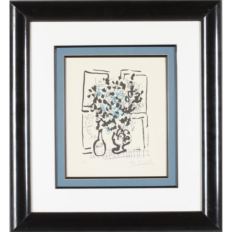 Marc CHAGALL - Print-Multiple - Le Bouquet Noir et Bleu