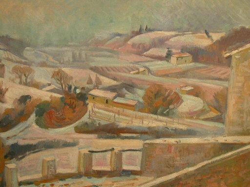 André LHOTE - Painting - Miramande Sous La Neige / Miramande under Snow