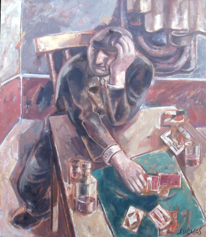 Alfonso SUCASAS GUERRA - Pittura - XOGADOR
