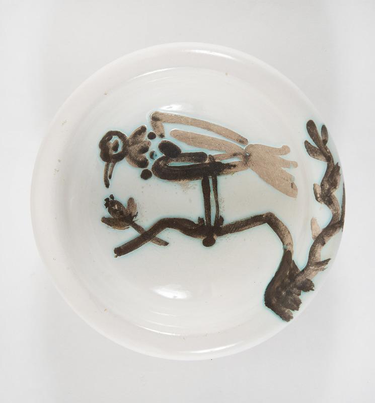 Pablo PICASSO - Ceramic - Oiseau sur la branche (A.R.175)
