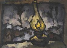 Oskar RABIN - Painting - The Yellow Lamp