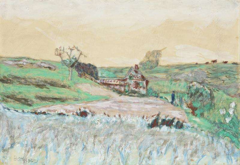 Pierre BONNARD - Drawing-Watercolor - Maison dans la Vallee
