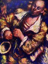 Barry LEIGHTON-JONES - Painting - The Music Maker