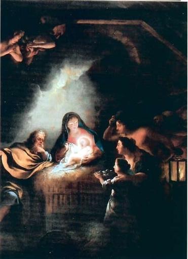 Jean-François DE TROY - Painting - L'adoration des bergers