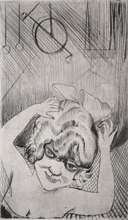Otto DIX - Grabado - Lili, Queen of the Sky, from: Circus