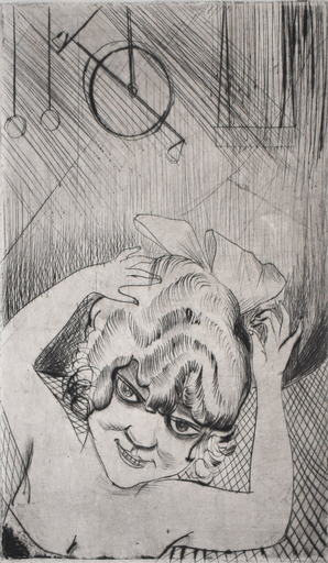 Otto DIX - Stampa-Multiplo - Lili, Queen of the Sky, from: Circus