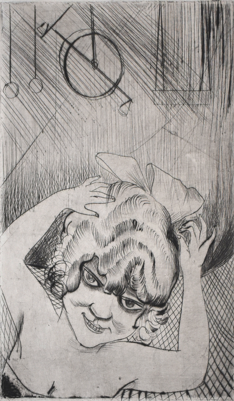 Otto DIX - Estampe-Multiple - Lili, Queen of the Sky, from: Circus