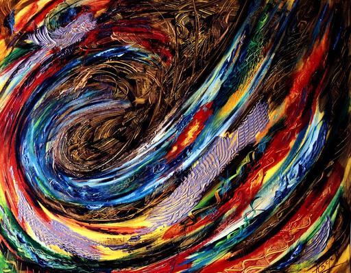 Didier ANGELS - Peinture - La planète infernale