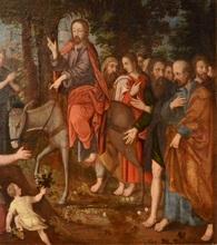 Pieter AERTSEN - Peinture - Entrée du Christ à Jérusalem