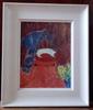 Gerhild DIESNER - Pintura - Katze auf rotem Stuhl