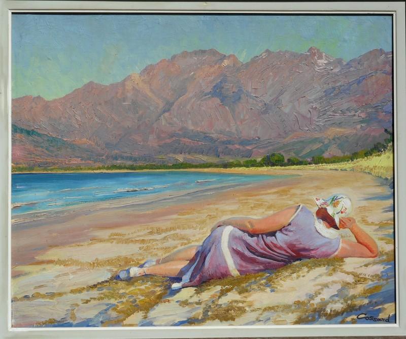 Adolphe COSSARD - Pittura - sur une plage en CORSE