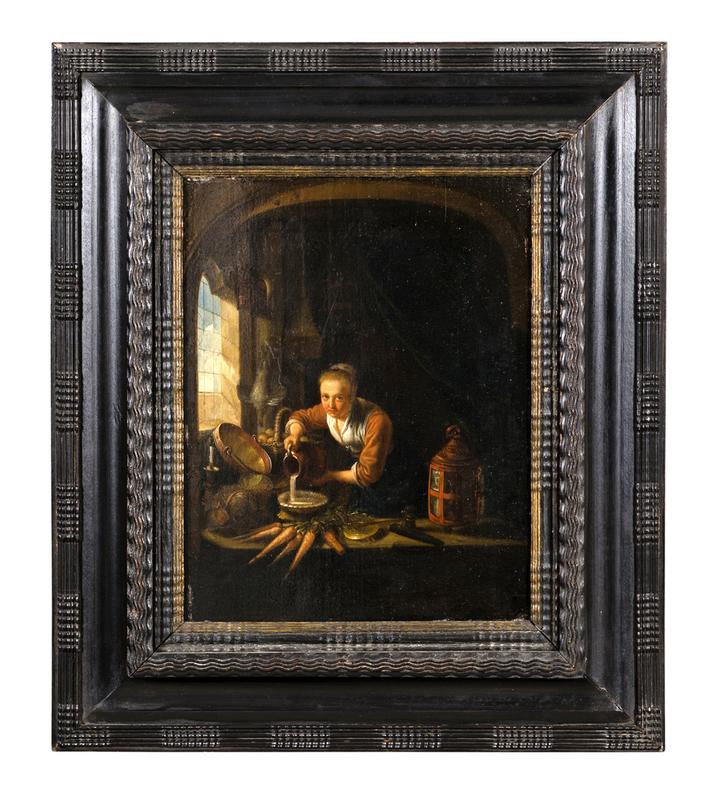 Gerrit DOW - Pintura - La cuisiniere hollandaise