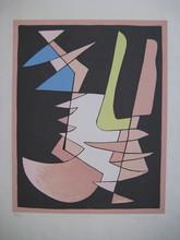 Alberto MAGNELLI - Estampe-Multiple - SÉRIGRAPHIE 1953 SIGNÉE ENCRE NUM300 HANDSIGNED SILKSCREEN