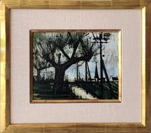 Bernard BUFFET - Peinture - Route et Eglise