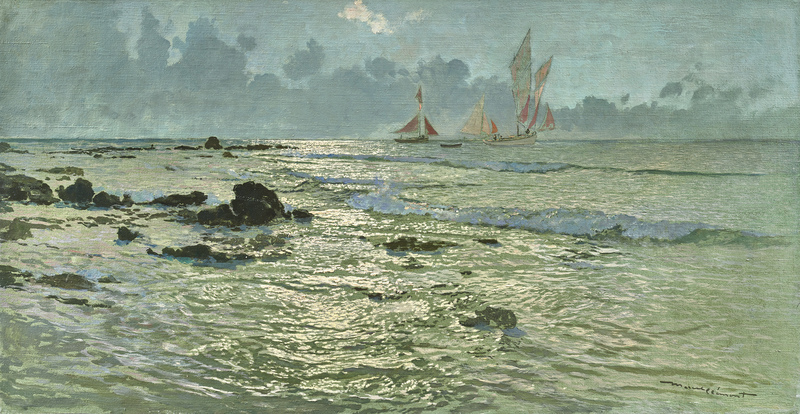 Amédée Julien MARCEL-CLÉMENT - Painting - Près de la grève