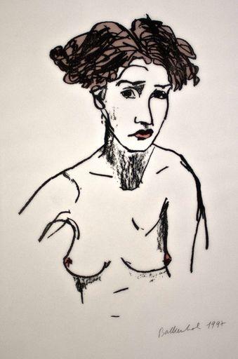 Stephan BALKENHOL - Print-Multiple - Nacktes Mädchen