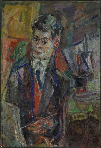 Michel KIKOINE - Painting - Portrait of Jacques Chalom