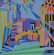 Rolph SCARLETT - Painting - The city