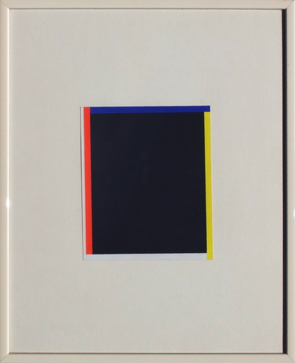 Aurélie NEMOURS - Drawing-Watercolor - Noir rouge jaune et bleu