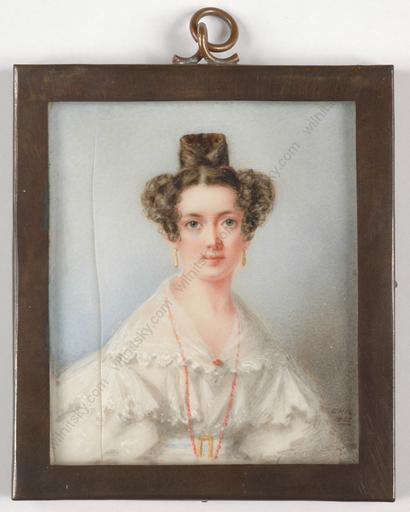 "Emma Harriet RAIMBACH - Miniatur - ""Portrait of a lady"""