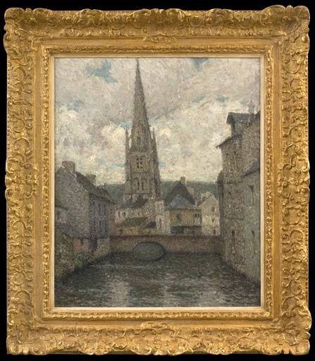 Henri LE SIDANER - Painting - L'église, Harfleur