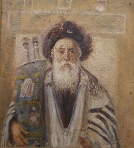Isidor KAUFMANN - Painting - Rabbi with Tora