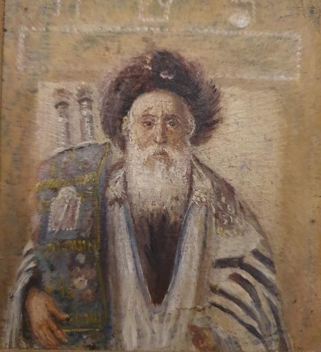 Isidor KAUFMANN - Painting - Rabbi with Tora