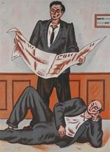让·艾利翁 - 绘画 - Le Journalier et le Gisant