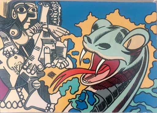 ERRÖ - Pintura - Hommage á Picasso