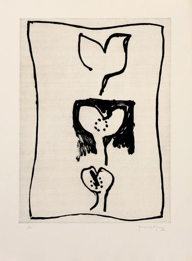 Joan HERNANDEZ PIJUAN - 版画 - Hojas
