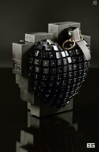 Bertrand GREGOIRE - Escultura - Bomb Pix 2