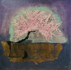 Corine LESCOP - Peinture - Cerisier dans la Roche