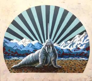 Damir MURATOV - Pittura - Walrus-Unicorn