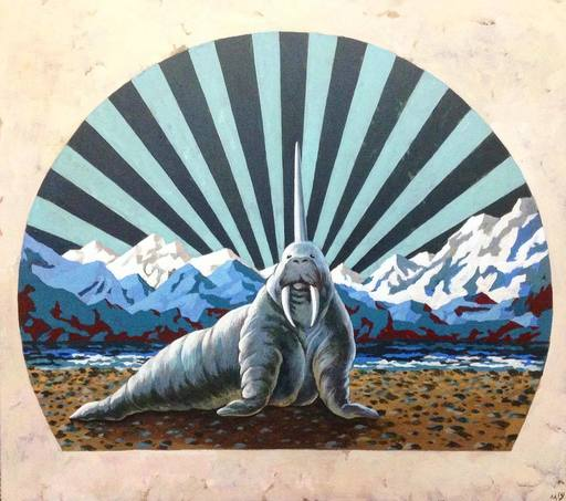 Damir MURATOV - Painting - Walrus-Unicorn