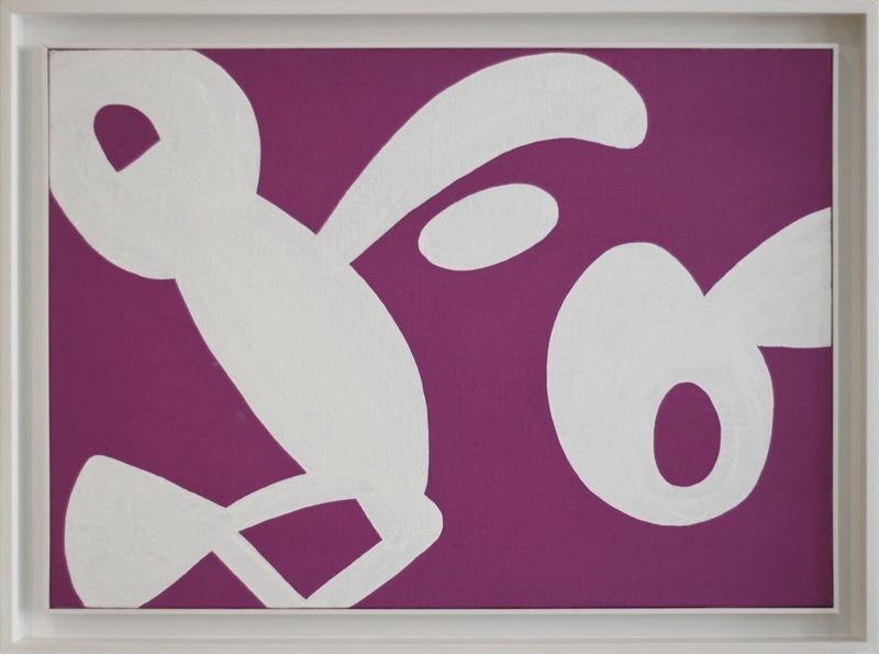 Carla ACCARDI - Painting - Bianco su viola