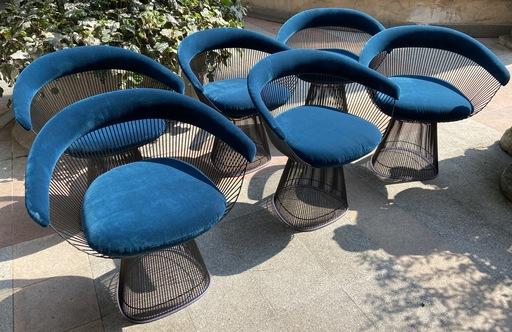 Warren PLATNER - Ensemble de 6 chaises Warren Platner - Circa 2020