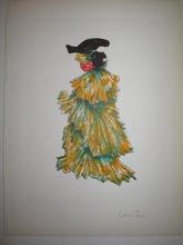 Leonor FINI - Grabado - Le chat en robe du soir,1973.