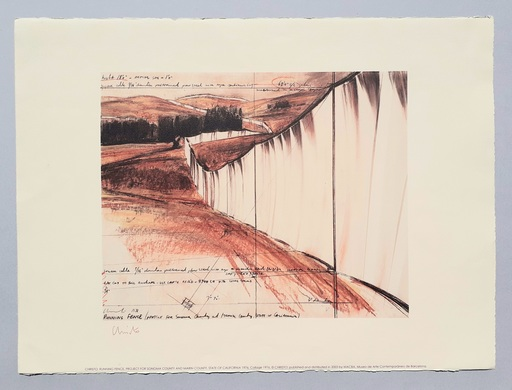 CHRISTO - Druckgrafik-Multiple - Running fence, project for Sonoma county and Marin county