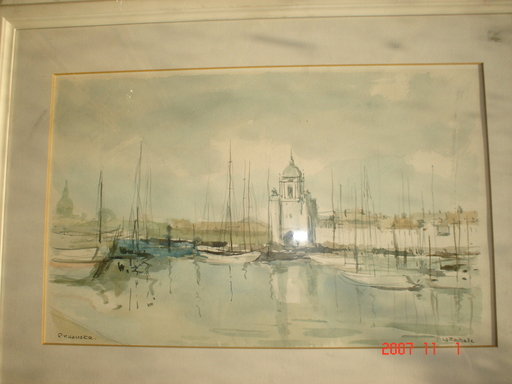 Renée Yolande HAUSER - Drawing-Watercolor - la rochelle