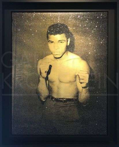 Russell YOUNG - Painting - Ali (smoketown gold and black)
