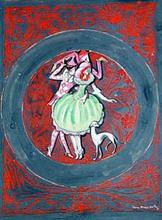 "Boris Israelewitsch ANISFELD - Drawing-Watercolor - Curtain for Mikhail Mordkin's ballet ""Carnival"""