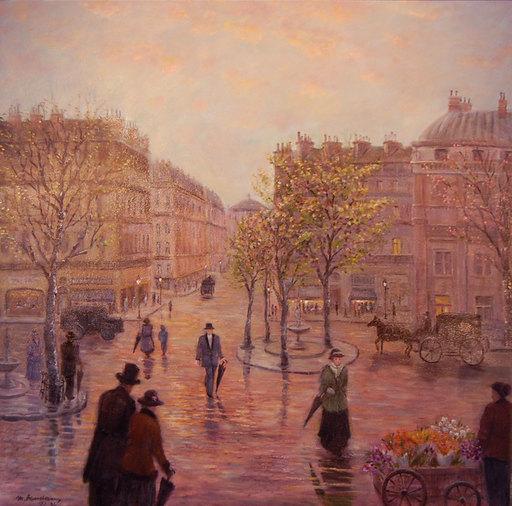 Monique BAUDAUX - Painting - The town