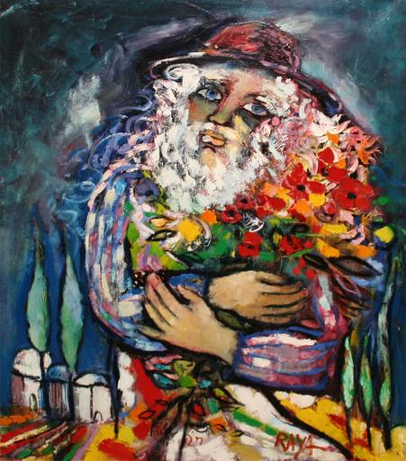 RAYA - Painting - Le Mandiant Fleuri