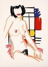 Tom WESSELMANN - Estampe-Multiple - Monica Sitting with Mondrian
