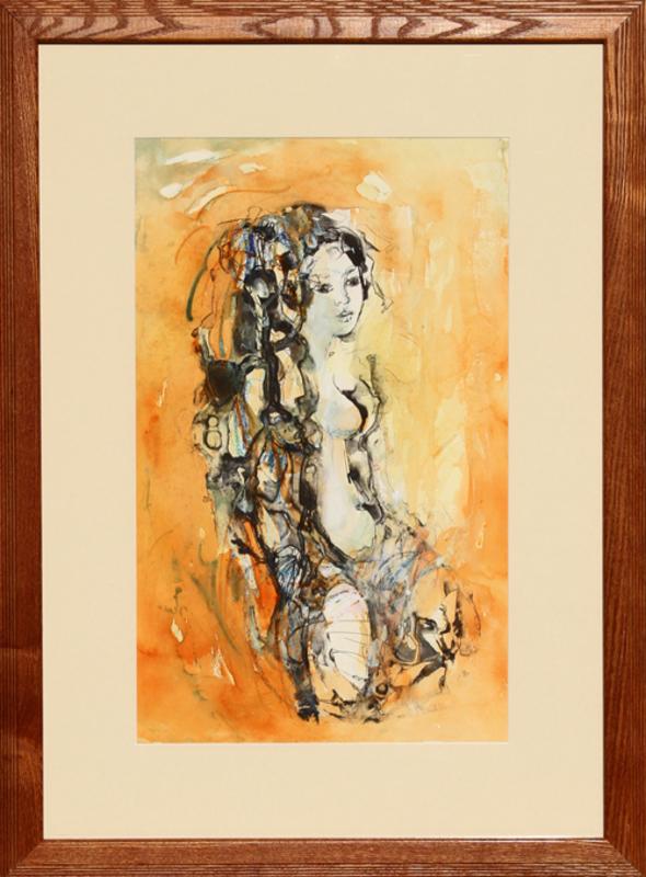 Madeleine SCELLIER - 水彩作品 - Untitled - Nude Portrait 5