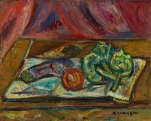 Pinchus KREMEGNE - Peinture - Nature morte sur la table