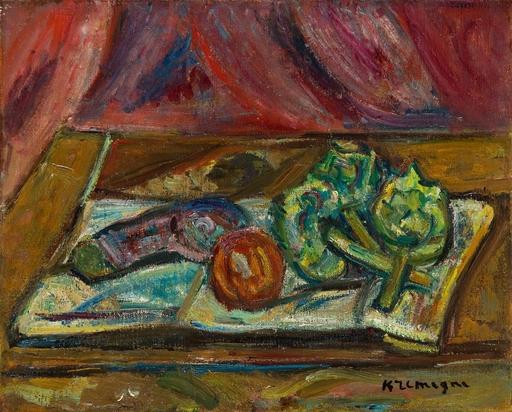 Pinchus KREMEGNE - Pintura - Nature morte sur la table