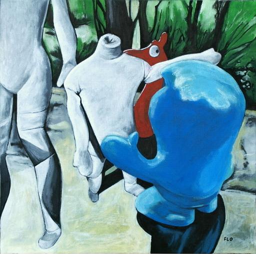 Flo JAOUEN - Painting - « Les potes 1 »