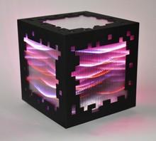 Miguel CHEVALIER - Grabado - Mini voxels light red