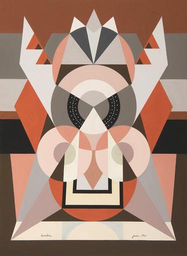 Auguste HERBIN - Drawing-Watercolor - Composition symétrique